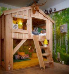 Boomhutbed Mowgli #boomhut # huisbed #huisjesbed #boomhutbed #bunkbed #housebed…
