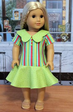 1970's Style Dress for American Girl Doll by BabiesArtUs on Etsy, $45.00