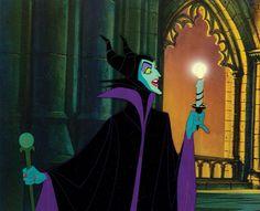 Production Cel Featuring Maleficent from Sleeping Beauty Malificent, Disney Maleficent, Disney Villains, Punk Disney, Disney Magic, Disney Art, Animation Film, Disney Animation, Sleeping Beauty Art