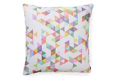 Raindrops 20x20 Outdoor Pillow, Multi on OneKingsLane.com // All these pillows are so dang cute. They make me wish I laying outside on blankets with a big pillow fort.