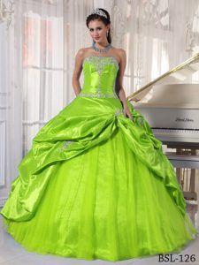 Yellow-Green Dresses