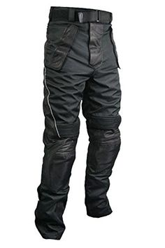 Xelement CF-2131 Mens Tri-Tex Fabric and Leather Motorcycle Racing Pants $78