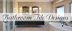 Create a custom mosaic or interesting pattern to set your bathroom apart from the rest. Here are some tile designs to give you some inspiration. Bath Trends, Bathroom Tile Designs, Kitchen And Bath, Kitchen Design, Bathrooms, Home Improvement, Bathtub, Articles, Mirror
