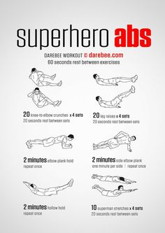 Superhero Abs Workout   Posted by: CustomWeightLossProgram.com