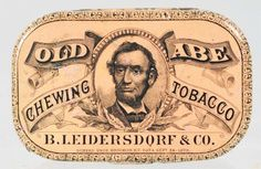 Old Abe Chewing Tobacco Pocket Tin.