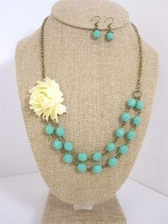 turquoise glass beads by lidia