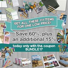 Save 60% plus an extra 15% today only on our BIG bundle. Use coupon BUNDLE17 For a complete list of items included, please click here: http://MinistryIdeaz.com/Big-Bundle  To buy all of the items in this bulk pack, you would pay $451.22. However, with this bundle offer, you only pay $180.49, a grand total SAVINGS OF OVER $270! Plus today only we're offering an additional 15% off this bundle with the coupon code BUNDLE17.