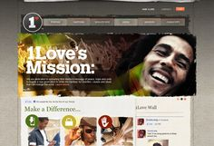 1Love - an website to spread Bob Marley's message of Peace, Hope and Unity    #joomla