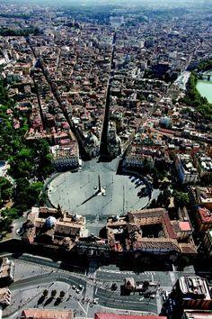 Roma (Piazza del Popolo e il ''tridente'') via La Pepublicca - my favourite Piazza!!