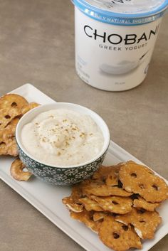 The secret to making roasted cauliflower dip creamy and a bit tangy is adding Chobani Non-Fat Plain Greek Yogurt. Via @homemadeforelle