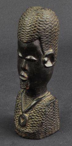 Buste homme bois d' EBENE Art Africain | eBay