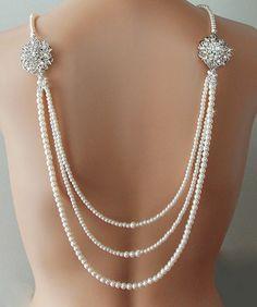 Collier de toile de fond collier mariée collier par AmbrosiaBridal