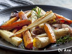 Baked Vegetable Fries Recipe e: 45 minutes Serves: 2-4 Ingredients:      1 cup rutabega     1 cup carrots     1 cup red bell pepper     1 cup onion     1 cup portabello mushrooms     ghee or coconut oil     2-4 tsp Sea Salt     2 tsp Black Pepper     2 tsp Onion Powder     2 tsp Garlic powder