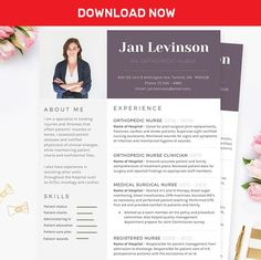 Nurse MS Word Resume Template Pkg. by JannaLynnCreative on @mywpthemes_xyz