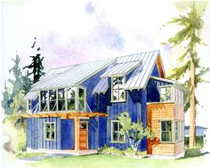 Plan 479-4 - Houseplans.com 1914 sqft, but the layout and exterior are nice