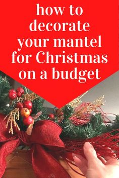 Get into the Holiday spirit with this easy dollar store Christmas Mantel decorating idea with tv. This holiday mantel decor is even cheaper if you grab black friday deals at the dollar tree or buy it end of season for next years Christmas mantel decorating. Dollar Store Christmas, Christmas On A Budget, Dollar Tree Store, Dollar Stores, Christmas Time, Christmas Mantels, Christmas Wreaths, Christmas Crafts, Christmas Decorations