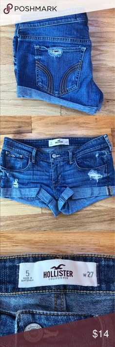 Hollister shorts. Size 5 💙 Great condition! Hollister Shorts Jean Shorts