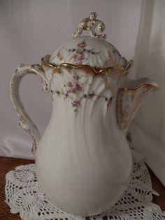 Antique Limoges Chocolate Pot