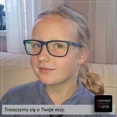Ala w nowych okularach - ślicznie! Rodzice zamówili dla Ali szkła Junior Airwear z powłoką ochronną Crizal Prevencia, ponieważ jak każda dziewczynka w jej wieku prawie wcale nie używa smartfona ani komputera :)))
