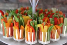 Shower Inspiration Veggie cups for a Bridal Shower Brunch. A great veggie appetizer for any party.Veggie cups for a Bridal Shower Brunch. A great veggie appetizer for any party. Bridal Shower Appetizers, Bridal Shower Menu, Wedding Shower Recipes, Shower Party, Wedding Appetizers, Shower Games, Bridal Shower Fall, Bridal Shower Punch, Wedding Foods