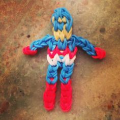 Rainbow Loom Bracelet Patterns | Captain America rainbow loom. \ | Rainbow Loom Patterns