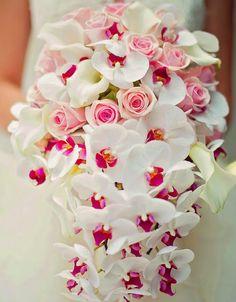 cascading orchids ~ Vasia Weddings | bellethemagazine.com