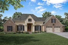 French Country house plan For the Home Pinterest French