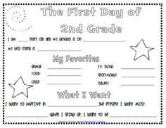 I use this activity the first week of school, and I save it all year long and then do it again the last year of school.If you didn't do it in the beginning of the year, it's still a fun activity for the end of the year! Included in the zip file are files for Kindergarten through 5th grade, for 2014/15 school years.