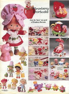 Strawberry Shortcake ● I had the one with the pink kitty cat in the upper left corner. Best 5th birthday present ever from my Uncle Eddie.