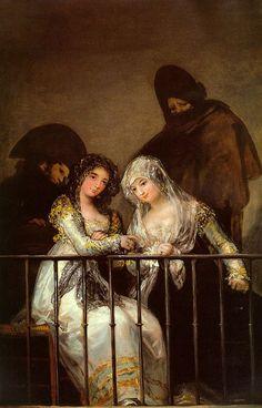 Francisco Goya, Majas al balcone, olio su tela, Metropolitan Museum of Art, New York Francisco Goya, Magritte, Metropolitan Museum, Goya Paintings, Fine Art Prints, Canvas Prints, Art Ancien, Edouard Manet, Spanish Artists