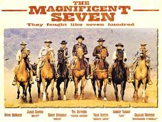 Awesome western; funny that in this poster Chris has a last name that's never mentioned and Steve McQueen's character has no name at all.