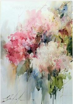 I have chosen this beautiful watercolor painting for you from Fabio Cembranelli. I love the abstract florals with soft colors. Have a lovely day my sweet friend. Arte Floral, Watercolor Flowers, Abstract Painting Watercolor, Abstract Art, Art Flowers, Watercolor Images, Water Color Abstract, Tree Watercolour, Watercolor Ideas