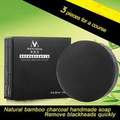 Tratamiento de Cuidado de La Piel Natural de Carbón de Bambú Jabón hecho a mano Jabón Para Blanquear La Piel Removedor de La Espinilla Del Tratamiento Del Acné Control de Aceite