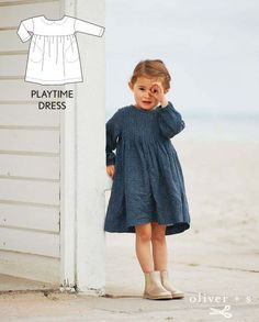 Sewing For Kids Clothes Something like this for Viv; dresses with pockets are great! Oliver S Playtime Dress - Get your creative on! Here are several ready-to-wear examples to inspire your creativity and to help keep your sewing fresh. Toddler Dress Patterns, Kids Clothes Patterns, Girl Dress Patterns, Sewing Patterns For Kids, Sewing For Kids, Baby Sewing, Patterns For Dresses, Baby Dress Pattern Free, Coat Patterns