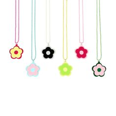 JEWELLERY MODERN FLOWER NECKLACE pendant big mary quant tail FLOWER baby no