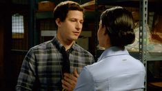 """When they had the perfect first kiss: 17 Times Jake And Amy From """"Brooklyn Nine-Nine"""" Were A More Iconic Couple Than Jim And Pam Brooklyn Nine Nine Funny, Brooklyn 9 9, Series Movies, Movies And Tv Shows, Charles Boyle, Jake And Amy, Jake Peralta, Andy Samberg, Parks N Rec"""