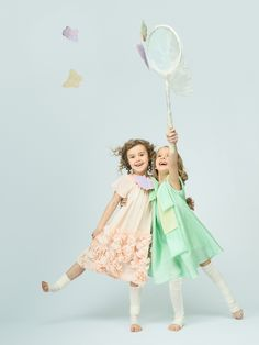 Ruffled and flared lines add volume to girls dresses from ISE Kids for spring 2014