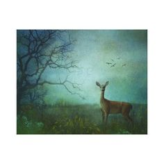 Wrapped Canvas-Deer in the Meadow Stretched Canvas Print @zazzle