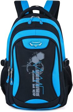 Buy Backpack for Boys, Fanspack Boys Backpack Kids School Bags Bookbags Backpack for Elementary or Middle School North Face Backpack, Kids Backpacks, School Backpacks, School Reviews, School Bags For Kids, Unisex, Middle School, Laptop