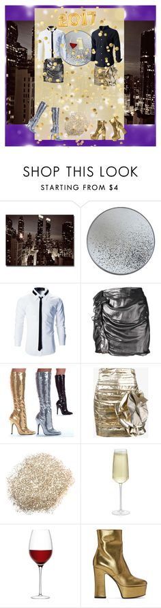 """Happy New Year!"" by badstan ❤ liked on Polyvore featuring Trademark Fine Art, Notre Monde, Isabel Marant, Ellie, Faith Connexion, Crate and Barrel, LSA International, Yves Saint Laurent, men's fashion and menswear"