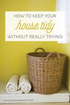 Instead of setting aside time to tidy my house, it's an all-day process that I barely even notice anymore! Come see how to tidy your house without really trying.