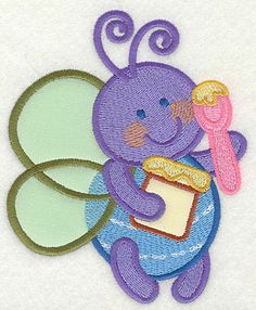 Bee eating honey #applique #embroidery #embroiderydesigns #digitizing #machineembroidery #freedesign