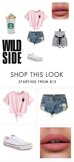 """""""summer"""" by ottoca on Polyvore featuring WithChic and Converse"""