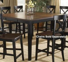 $495 Hillsdale Englewood Rectangular Pub Table with Butterfly Leaf