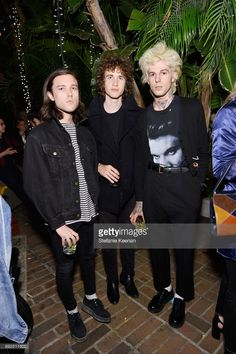 Jesse Rutherford (R) and guests attend Oliver Peoples 30th Anniversary Party on May 12, 2017 in Los Angeles, California.