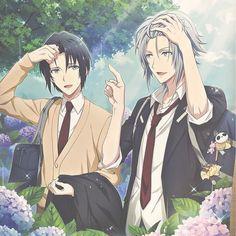 Iori Izumi and Gaku Yaotome Cool Anime Pictures, Cute Anime Pics, Handsome Anime Guys, Hot Anime Guys, Anime Boys, Otaku Anime, Manga Anime, Anime Music, Manga Boy