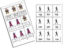 Free baseball game for short and long vowels