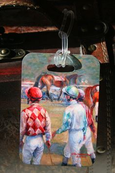 Castleton House Classic Jockeys in the Paddock Luggage Tag