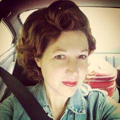 Vintage inspired hair do for Goodwood Revival.