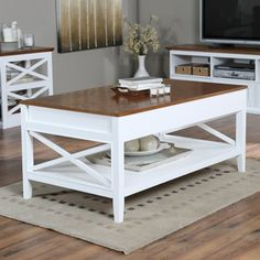 Kitchen Table Wood Top With White Legs Rustic Farmhouse